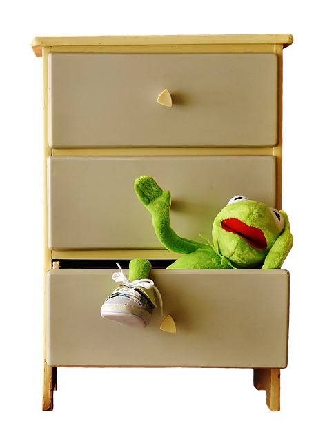 cabinet, commode, kermit
